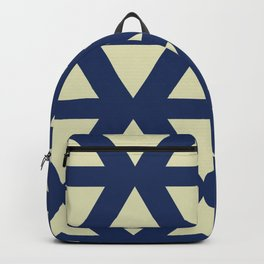 Geometry in Gold and Blue Backpack