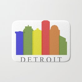 detroit skyline Bath Mat