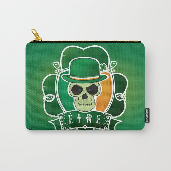 Lucky Irish  skull Carry-All Pouch