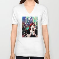 transistor V-neck T-shirts featuring Transistor - Before We All Become One… by Danielle Tanimura