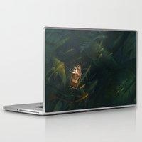 fishing Laptop & iPad Skins featuring Fishing by sandara
