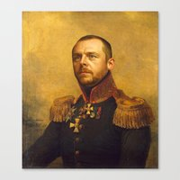 replaceface Canvas Prints featuring Simon Pegg - replaceface by replaceface