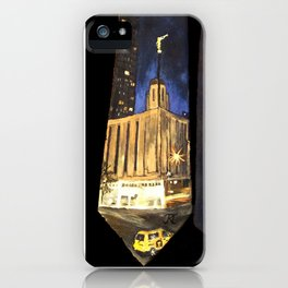 Manhattan NY LDS Temple Tie iPhone Case