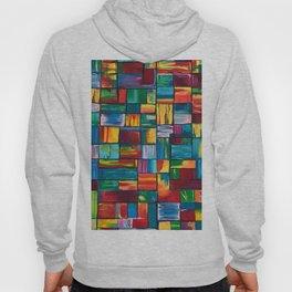 Abstract Colorful Bricks Hoody