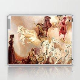 Imagined dream horses children dancing painting Laptop & iPad Skin