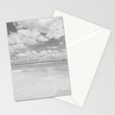 Playa Del Carmen Beach - Black & White Stationery Cards
