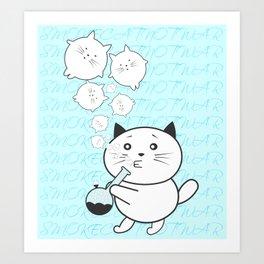 Smoke Cat not War Art Print