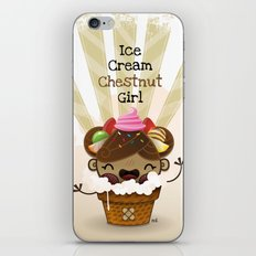 Ice Cream Chestnut Girl iPhone & iPod Skin