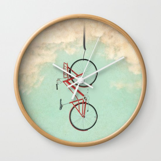 Bike Rack Wall Clock