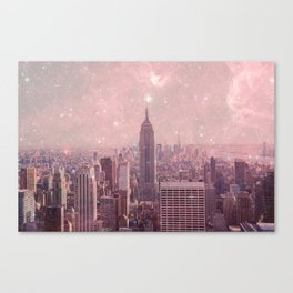 Stardust Covering New York Canvas Print