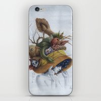 hat iPhone & iPod Skins featuring Hat by Veronica Casas