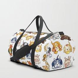 Kawaii Cute Dogs by dotsofpaint Duffle Bag
