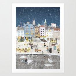 Bielsko Biala Street view Art Print