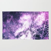 madoka magica Area & Throw Rugs featuring ε Purple Aquarii by Nireth