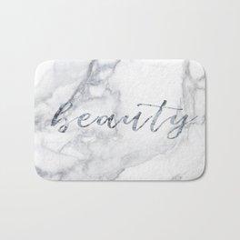 Beautiful white marble Bath Mat