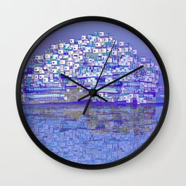 Mediterranean Village / Mojacar Wall Clock