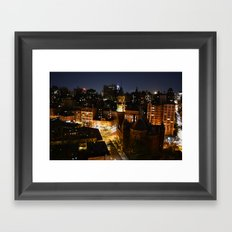 Moon Rising Over East Villiage, NYC Framed Art Print