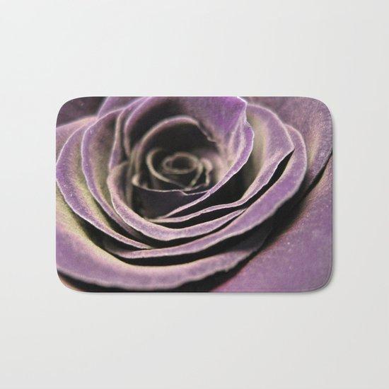 Purple velvet rose Bath Mat