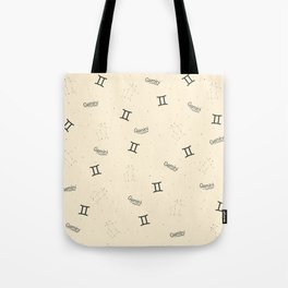 Gemini Pattern - Beige Tote Bag