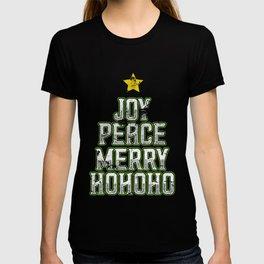 Joy Peace Merry Ho Ho Ho T-shirt