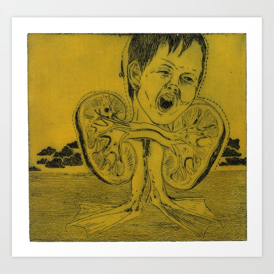 Kidney Art Print
