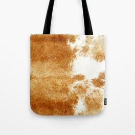 Golden Brown Cow Hide Tote Bag