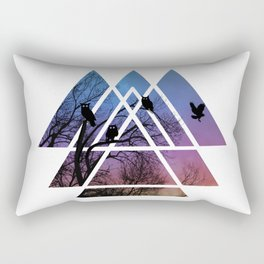 Night Wisdom - Sacred Geometry Triangels Rectangular Pillow