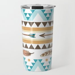 Southwest Feathers and Arrows - tribal pattern Travel Mug
