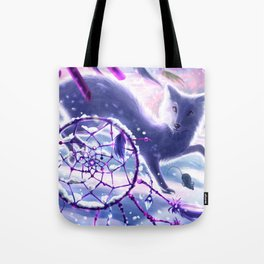 Winter Chase Tote Bag