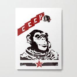 Soviet Space Monkey Metal Print