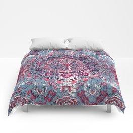 Vintage Boho Burgundy Mandala Comforters