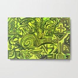 Green symbols Metal Print