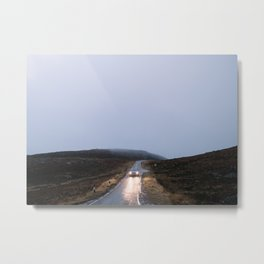 The Scotland road trip | travel - landscape - photo - nature - car - road - blue - nordic Metal Print