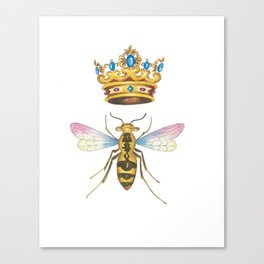 Watercolor Queen Bee, By Heidi Nickerson Canvas Print