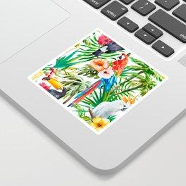 Tropical birds Sticker