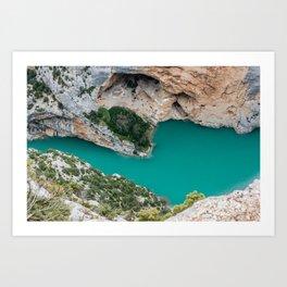 Blue river between the cliffs Art Print