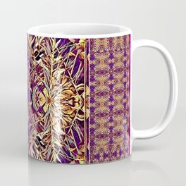 Midwestern Autumn, Foliage, Dry Plants, Purple Nature Pattern Coffee Mug