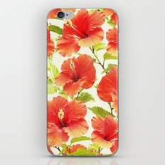 FLORAL PATTERN - HIBISCUS - iPhone & iPod Skin