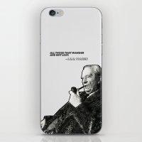 tolkien iPhone & iPod Skins featuring Tolkien - Wander by Illyrio_Mopatis