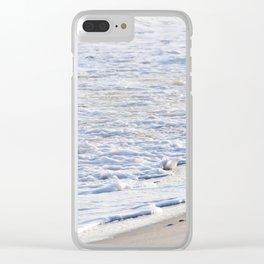 Beach Foam Clear iPhone Case