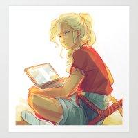 viria Art Prints featuring wise girl by viria