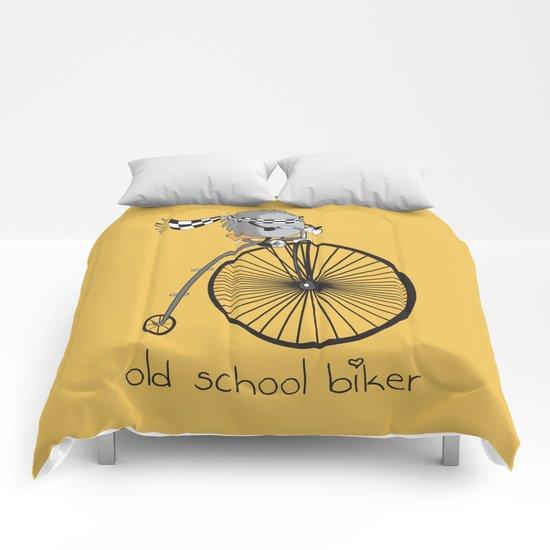 old school biker Comforters