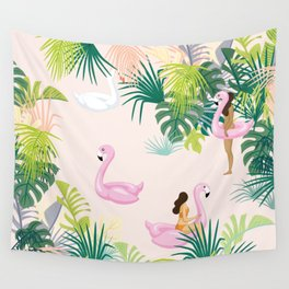 pink river Wall Tapestry