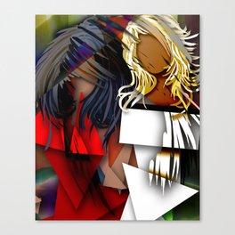 Cubist BFF's Canvas Print