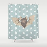 bat Shower Curtains featuring Bat by Mr and Mrs Quirynen