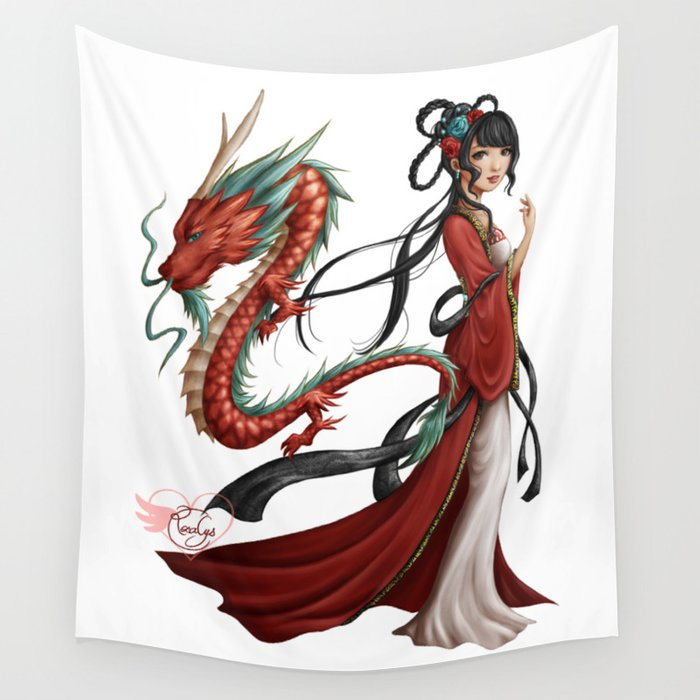 Chinese dragon pure Wall Tapestry