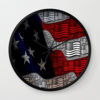 american Wall Clocks featuring American by Tracy66
