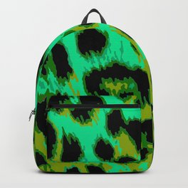 Aqua and Apple Green Leopard Spots Backpack