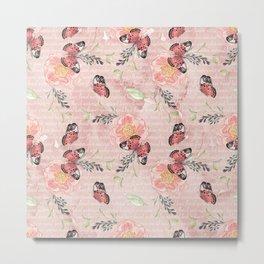 Flowers & butterflies #1 Metal Print