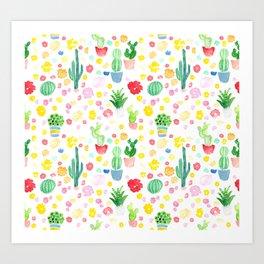 Cacti 1A Art Print